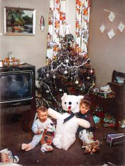 Mark and Eulonda Kosinski (Christmas ~ 1959)